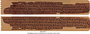 ABHIDHARMA EARLY COMMENTARY | MS 2373/1