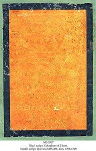 Ahmad al-Nayrizi Qur'an | MS 5317