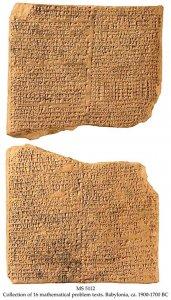Babylonian Algebra Problems | MS 5112
