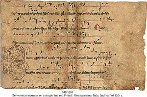 Antiphonal: Beneventan Neumes | MS 1681