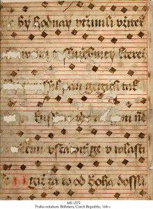Praha Notalion Antiphonal or Gradual | MS 1572