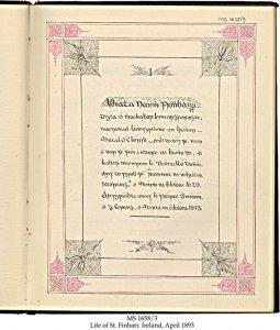 BEATHA BHARRÆ Ó CHORCAIGH (LIFE OF ST. FINBARR) | MS 1658-3