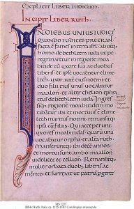 Bible: Carolingian Initials   MS 277
