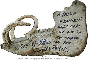 BIBLE: JOHN 3:16, OPENING PART: A TETUA EKANIENI MAFI TAKE NEI WA YA KOI KOUNA MAI TAN TARIKI | MS 5195