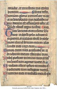 Prescissa Bible (England) | MS 1555