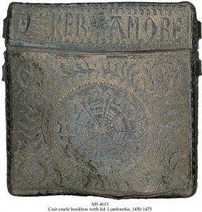 Black Goatskin Book Box MS | 4615