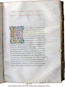 Caius Julius Caesar: de bello gallico | MS 4517 (1)