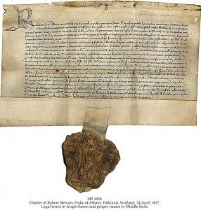 Charter: Erthchamberlayne, Sterling, Scotland | MS 1656