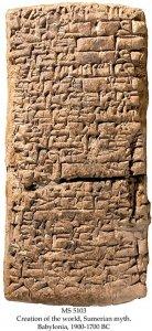 Creation of the world, Sumerian myth | MS 5103