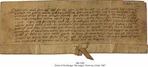 Deed of Exchange   MS 1385