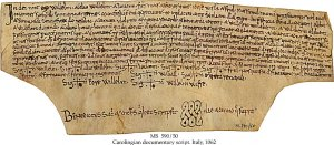 Deed of Gift Abbey of St Laurence | MS 590-50