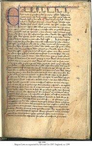 Edward  I 1297 Magna Carta (1) | MS 1390