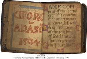 Alexander Flemming Scottish Chronicles | MS 4554