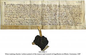 FRANCONIAN WINE MAKING CHARTER | MS 5348-1