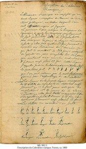 French Translation of Swedish Calendar Clog | MS 591/1