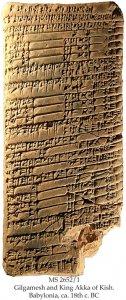 Gilgamesh and King Akka of Kish | MS 2652/1