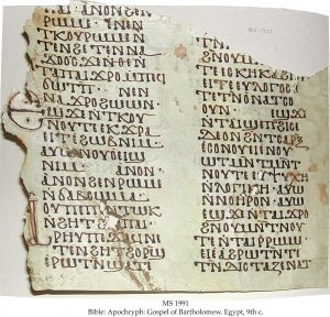 Gospel of Bartholomew   MS 1991