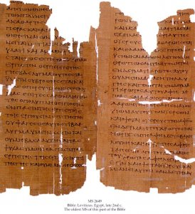 Greek Bible - Leviticus | MS 2649
