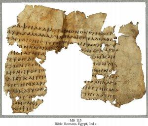 Greek Bible - Romans   MS 113