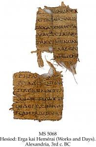 Hesiod Erga kai Hemerai (Works & Days) | MS 5068