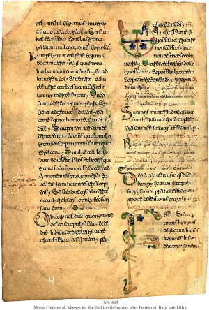 Missal (Puglia) | MS 063 (1)