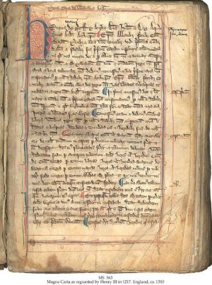 Henry III Magna Carta 1217 (1) | MS 563