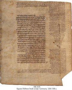 Bible: Kings, Chronicles, Isaiah   MS 631 (1)