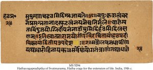 HATHAYOGAPRADIPIKA OF SVATMARAMA | MS 5294