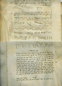 Kabbalistic Angelic Script   MS 5410