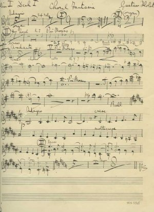 Holst: A Choral Fantasia| MS 5565