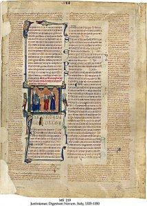 Iustinianus Digestum Novum | MS219