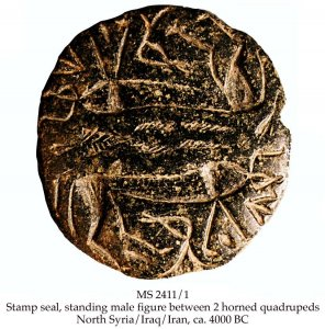 Man & Horned Animals Stamp Seal | MS 2411/1