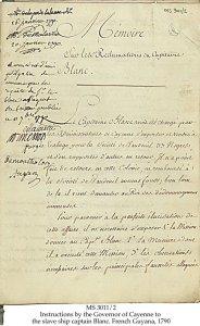 MÉMOIRE SUR LES RECLAMATIONS OU CAPITAINE BLANC | MS 3011-2