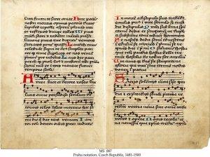 Metrical Hymns in Praha Notation | MS 087