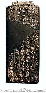 Middle Babylonian Almanac | MS 2781