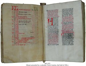 Missal with Calendar | MS 1372 (1)
