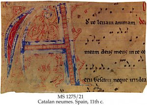 Missal or Gradual: Catalan Neumes | MS 1275/21