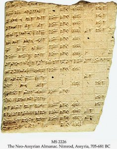 Neo-Assyrian Almanac | MS 2226