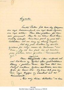 NINI ROLL ANKER: LEGENDE, SHORT STORY | MS 2140