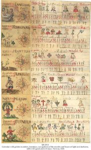 Norwegian Girdle Calendar | MS 2913 (1)