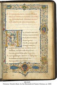 Francesco Petraraca: Trionfi A | MS 2105