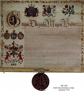 Royal Letters Patent | MS 1381 (1)