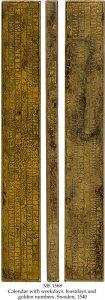 Runic Brass Calendar Clog | MS 1568