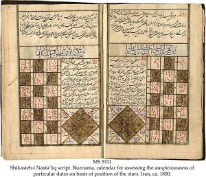 Ruznama: astrological calendar | MS 5311