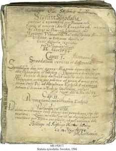 Statuta Synodalia | MS 1920/1