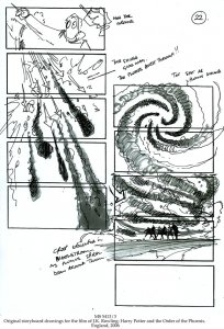 STORYBOARD DRAWINGS FOR HARRY POTTER AND THE ORDER OF THE PHOENIX | MS 5413/3 (1)