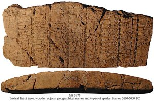 Sumerian lexical list - 1 | MS - 3173