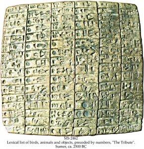 Sumerian lexical list - 2 | MS 2462