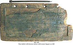 Bronze Wax Tablet with Stylus & Eraser | MS 608